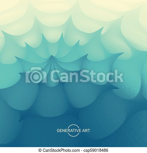 Blue abstract background. Vector illustration for your design. - csp59018486