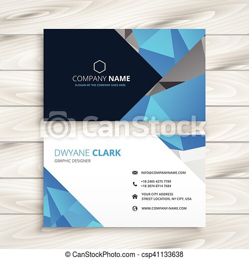 Blue abstract business card template vectors search clip art blue abstract business card template csp41133638 flashek Image collections