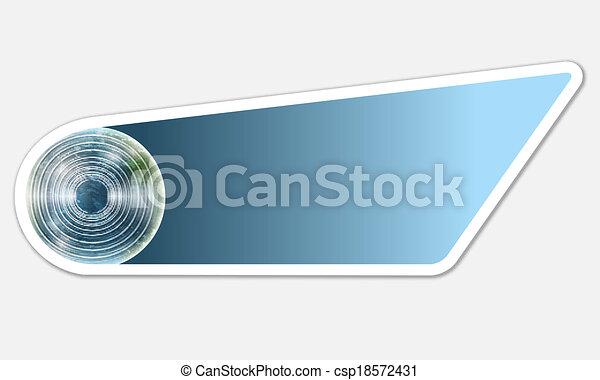blue abstract button - csp18572431