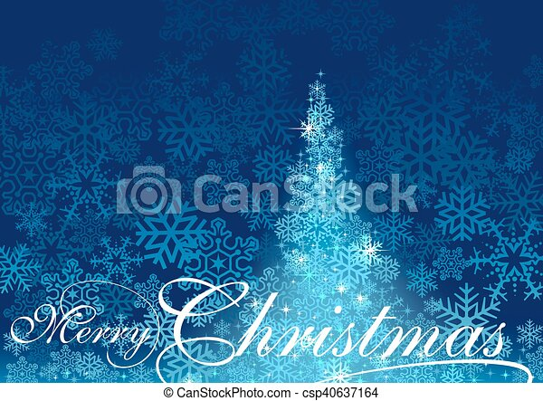 Blue Abstract Christmas Tree - csp40637164