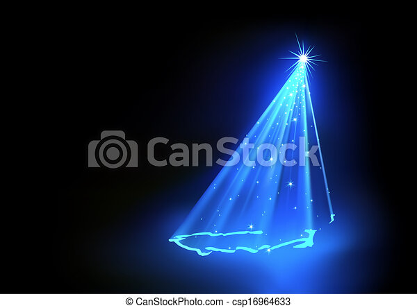 Blue Abstract Christmas Tree - csp16964633