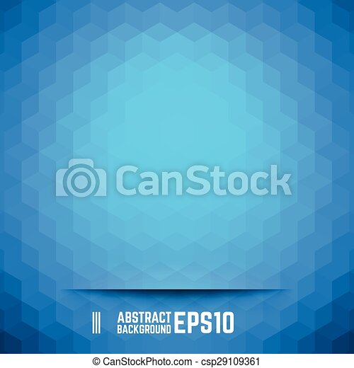 Blue abstract cube background - csp29109361