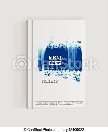 Blue abstract design. - csp42409022