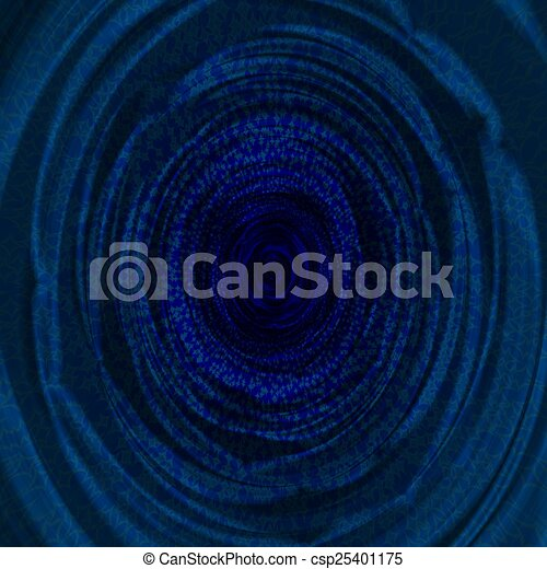 Blue abstract fractal background - csp25401175