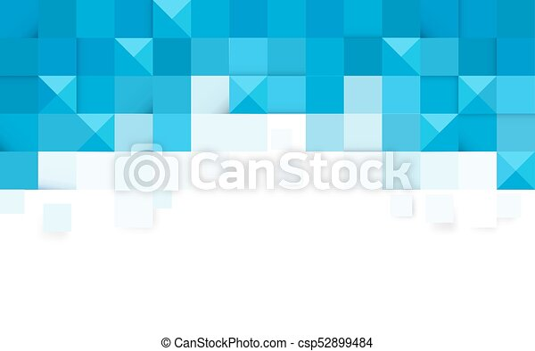Blue abstract geometric background - csp52899484