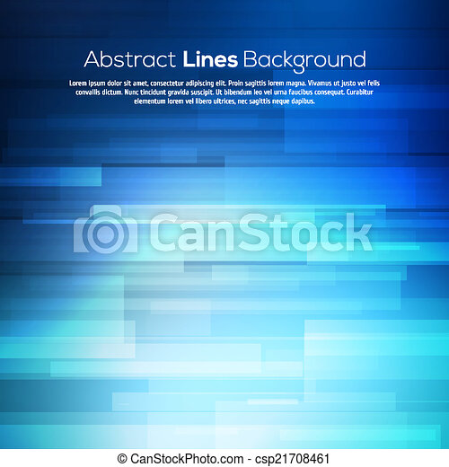 Blue abstract lines business vector background. - csp21708461