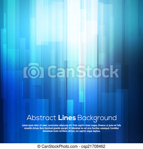 Blue abstract lines business vector background. - csp21708462
