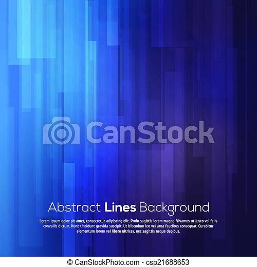 Blue abstract lines business vector background. - csp21688653
