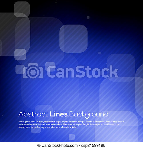 Blue abstract lines business vector background. - csp21599198