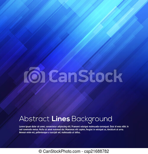 Blue abstract lines business vector background. - csp21688782