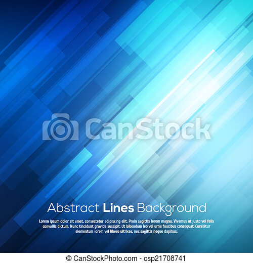 Blue abstract lines business vector background. - csp21708741