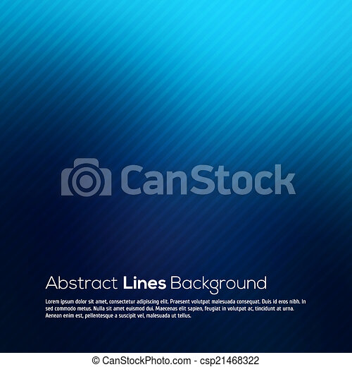 Blue abstract lines business vector background. - csp21468322