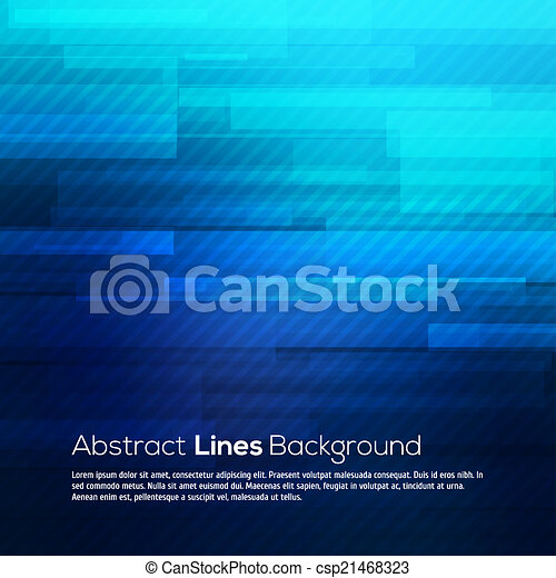 Blue abstract lines business vector background. - csp21468323