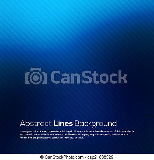 Blue abstract lines business vector background. - csp21688329