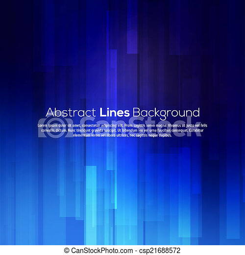 Blue abstract lines business vector background. - csp21688572
