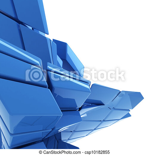 blue abstract technology background with copy space - csp10182855