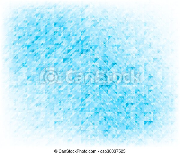 Blue Abstract Triangles Background - csp30037525