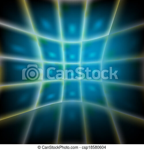blue abstract vector backdrop with grid - csp18580604