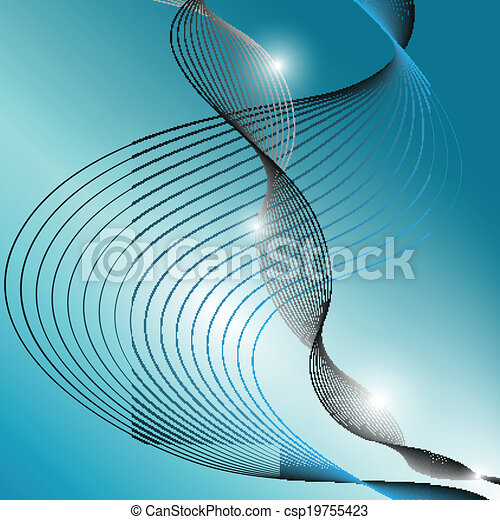 blue abstract wave background - csp19755423