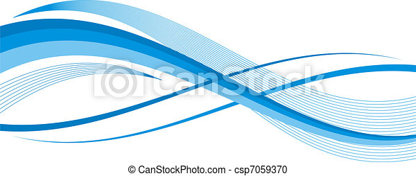 blue abstract wave illustration - csp7059370
