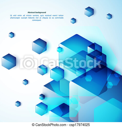 Blue abstraction background - csp17974025