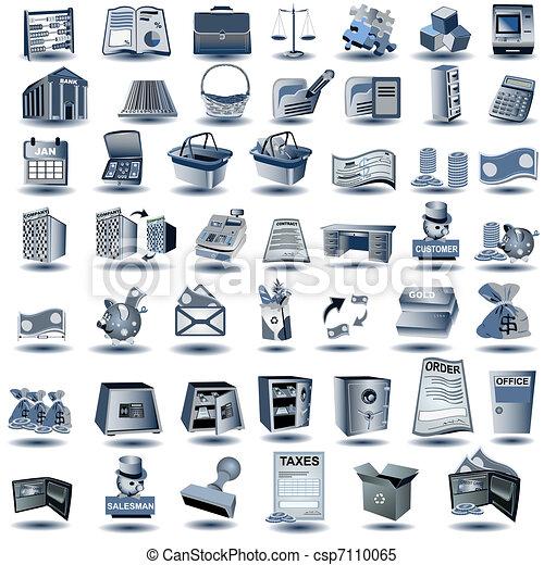 Blue Account Icons - csp7110065