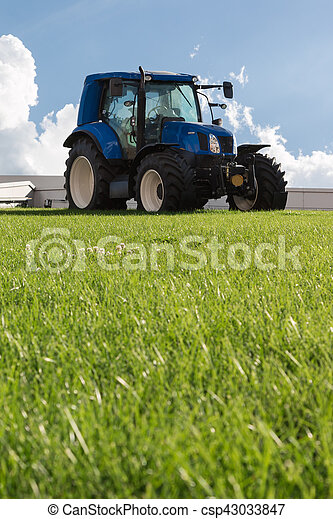 Blue Agricultural Tractor - csp43033847