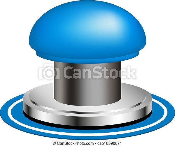 Blue alert push button - csp18598871