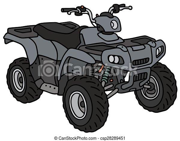Blue all terrain vehicle - csp28289451