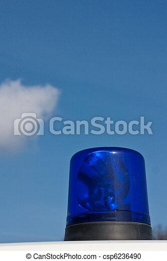 Blue ambulance light (2) - csp6236490