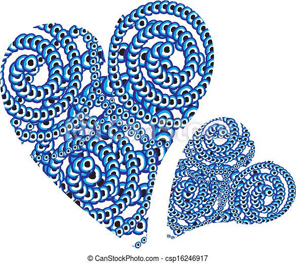 blue amulet line vector art - csp16246917