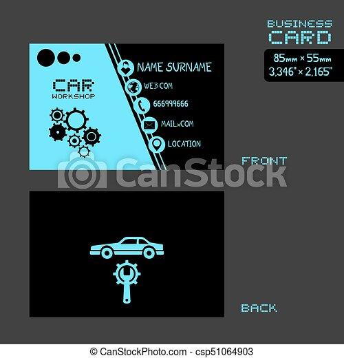 Blue and black workshop car business card creative design of black blue and black workshop car business card csp51064903 colourmoves