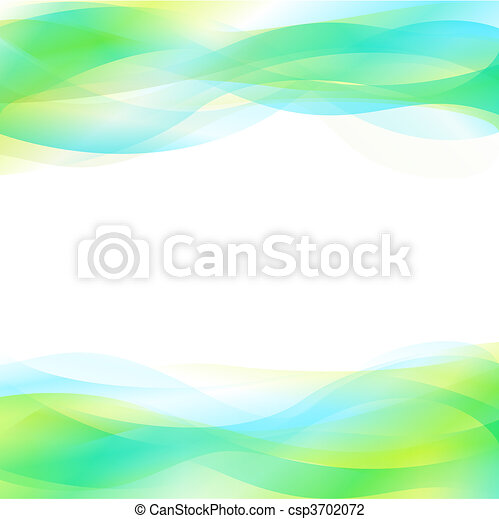 Blue And Green Abstract Background - csp3702072