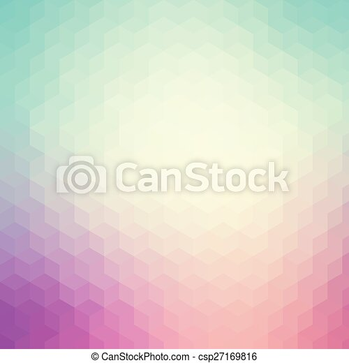 Blue and purple geometric pattern background - csp27169816