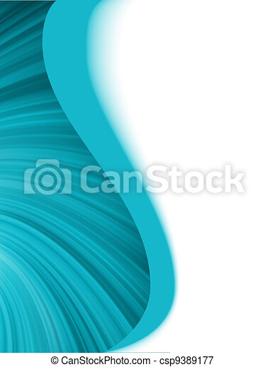 Blue and white abstract wave burst. EPS 8 - csp9389177