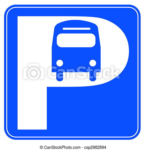 blue and white bus parking sign illustration drawing search clip rh canstockphoto com parking clip art free parking clipart free