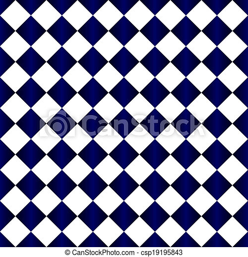 Blue And White Diamond Pattern Repeat Background