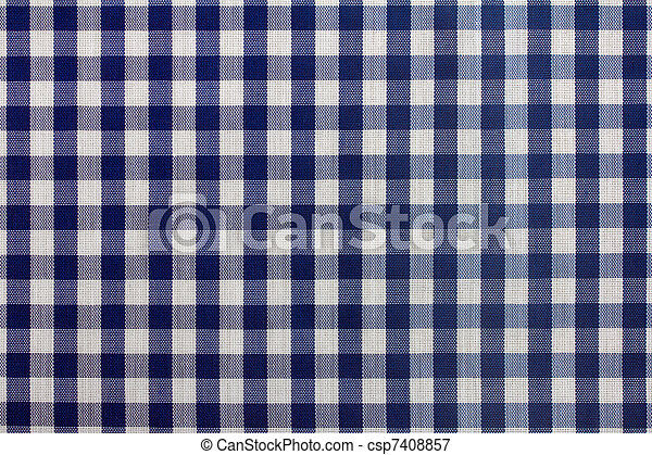 Blue And White Gingham Tablecloth   Csp7408857