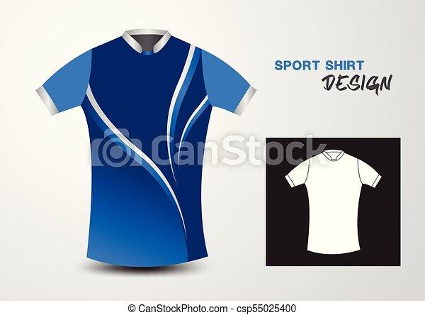 blue and white sport shirt design vector illustration sport t shirt
