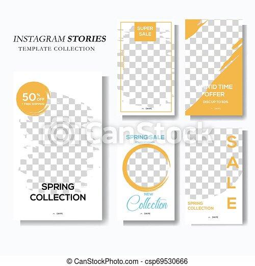 Blue and yellow social media story marketing - csp69530666