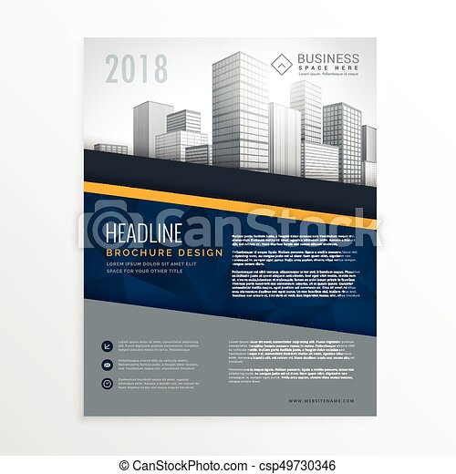 Blue Annual Report Brochure Cover Page Design Leaflet  Eps Vector