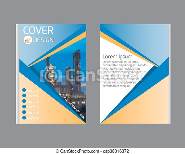 Blue Annual Report Brochure Flyer Design Template Vector  Vectors