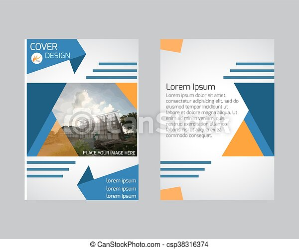 Blue Annual Report Brochure Flyer Design Template Vector, Leaflet Cover  Presentation Abstract Flat