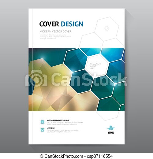 Blue annual report leaflet brochure flyer template a4 size ...