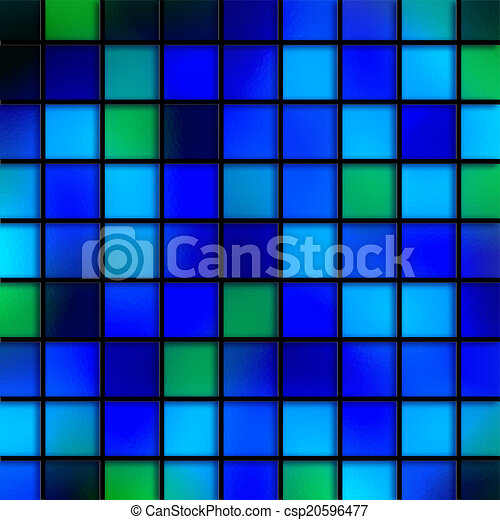 Blue Aqua Tiles - csp20596477