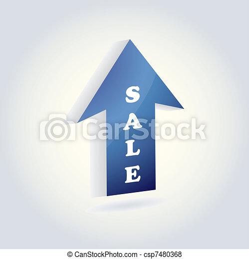 blue arrow - csp7480368