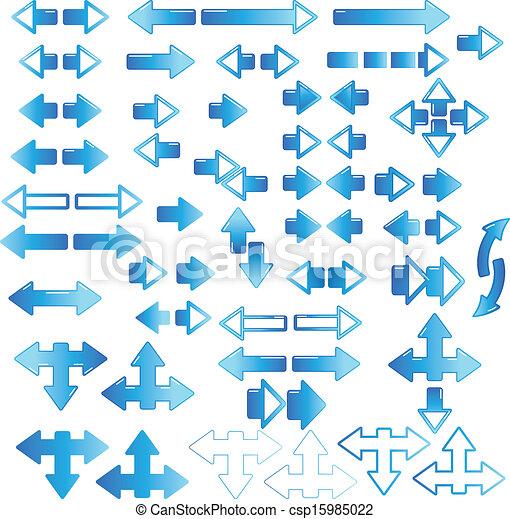 Blue arrow - csp15985022