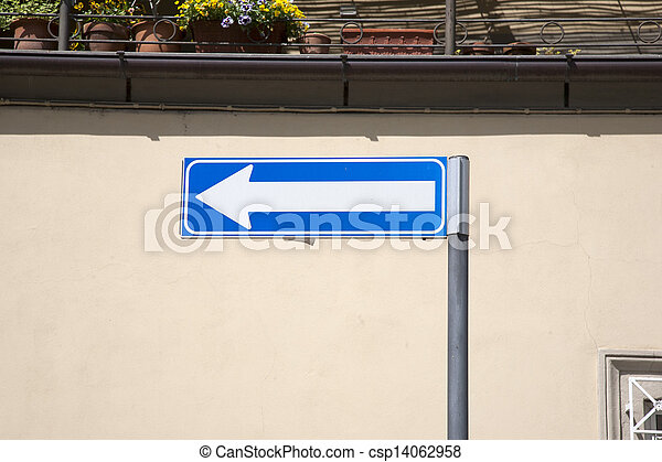 Blue Arrow Sign - csp14062958