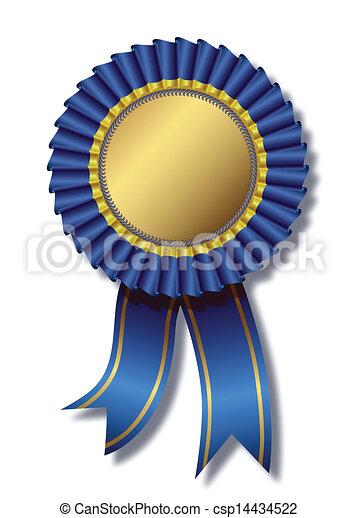 Blue award over white - csp14434522