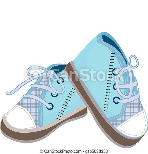 blue baby boots illustration - csp5038353